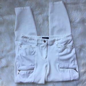 White House Black Market White Ankle Skinny Jeans